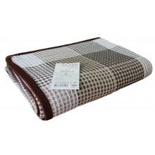 Покрывало VLADI бело-песочно-коричневый 140х200 см (220377)